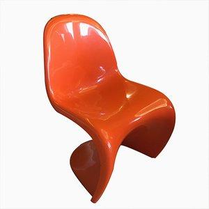 Sedia S rosse di Verner Panton per Fehlbaum, 1972