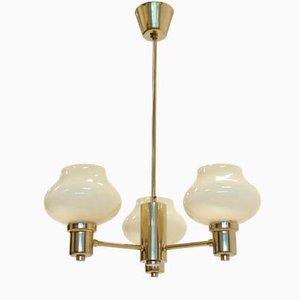 Scandinavian Brass Ceiling Lights, 1970s