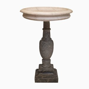 French White and Grey Marble Fountaine