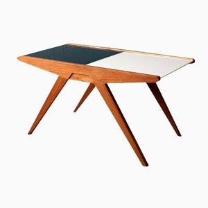Table Basse en Verre Pressé avec Plateau de Rangement, Suisse, 1950s