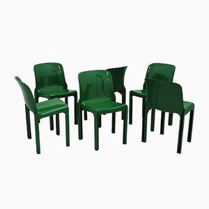 Italian Selene Chairs by Vico Magistretti for Artemide, 1968, Set of 6