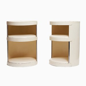 Mesas auxiliares de cartón beige de Jean-Louis Avril. Juego de 2