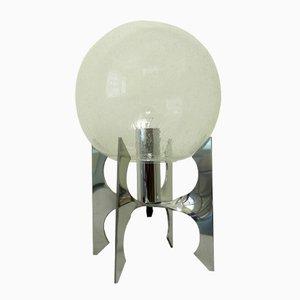 Lámpara de mesa Apollo alemana con globo de vidrio, años 70