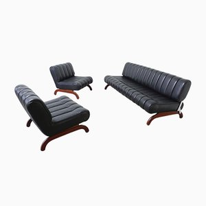 Austrian Independence Sofa Group with Bed Function from Karl Wittmann, 1968, Set of 3