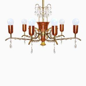 Lámpara de araña vienesa para Rupert Nikoll, años 50