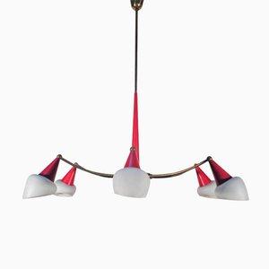 Lámpara de araña Sputnik italiana Mid-Century