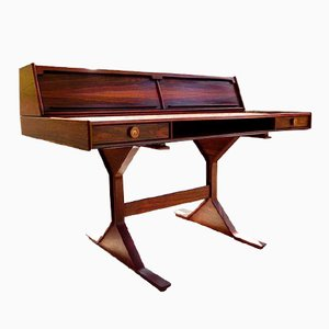 Mid-Century Rosewood Writing Desk by Gianfranco Frattini for Bernini
