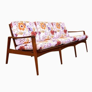 Mid-Century Danish Teak Three-Seater Sofa by Arne Wahl Iversen for Komfort