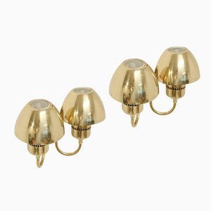 Brass Wall Lights by Hans-Agne Jakobsson, 1960s, Set of 2