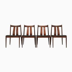 Dänische Esszimmerstühle von Bramin, 1960er, 4er Set