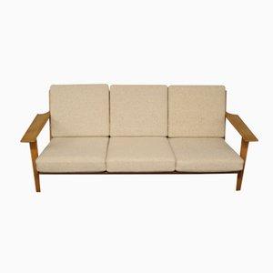 Sofá de tres plazas GE 290 de Hans J. Wegner para Getama, años 60