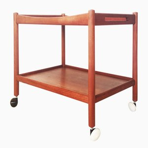 Danish Teak Tea Trolley by Hans Wegner for Andreas Tuck, 1960s