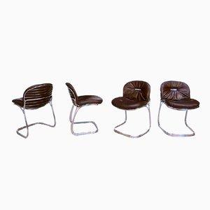 Italian Sabrina Chairs by Gastone Rinaldi for Rima, 1970s, Set of 4