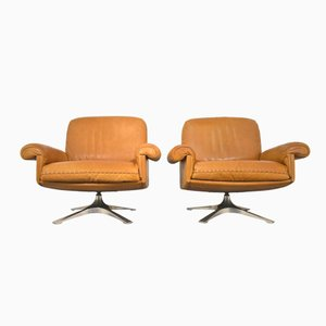 Vintage DS 31 Swivel Lounge Armchairs from de Sede, 1970s, Set of 2