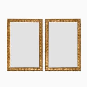 Französische Spiegel mit Vergoldetem Eichenlaub & Blattrosetten Rahmen, 2er Set