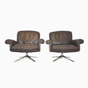 Swiss Vintage DS 31 Swivel Lounge Armchairs from de Sede, 1970s, Set of 2