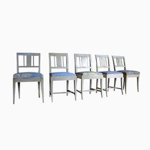 Chaises de Salon Biedermeier, Suède, Set de 5