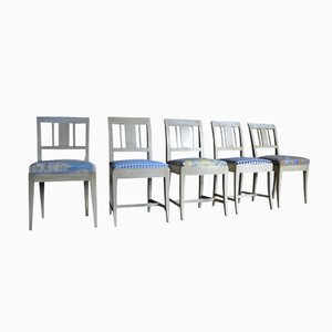 Swedish Biedermeier Dining Chairs, Set of 5