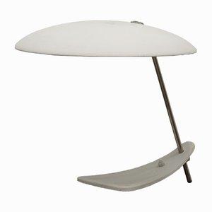 Lámpara de mesa Mid-Century de latón y acero