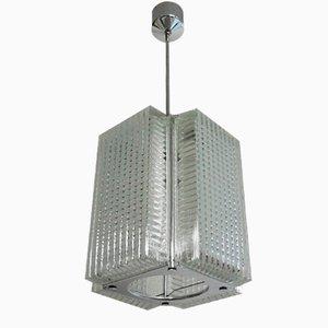 Lámpara colgante de vidrio prensado de Napako, años 70