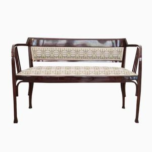 Antique Vienna Secession Bent Beech Bench from Thonet