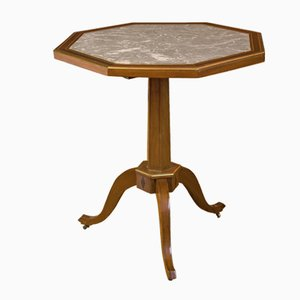 Achteckiger Directoire Mahagoni Tisch, 1800er
