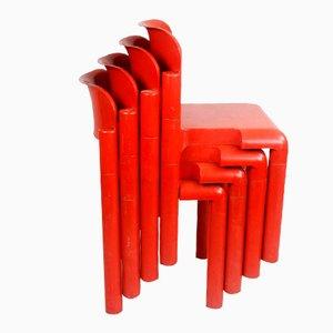 Chaises en Plastique par Eero Aarnio pour UPO, Finlande, 1970s, Set de 4