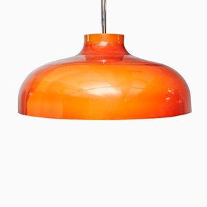 Lámpara de techo de plástico naranja de Miguel Milà para Tramo, años 50