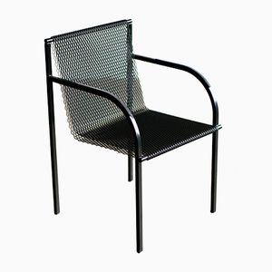 Industrieller Armlehnstuhl aus Stahl von Shiro Kuramata für Pastoe, 1985