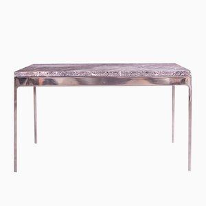 Table Basse avec Dessus en Pierre par Nicos Zographos, 1972