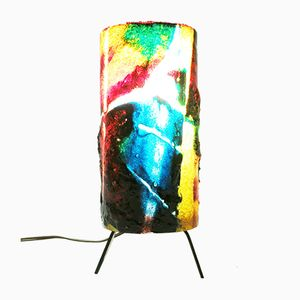 Mid-Century Brutalist Resin Lamp by Accolay