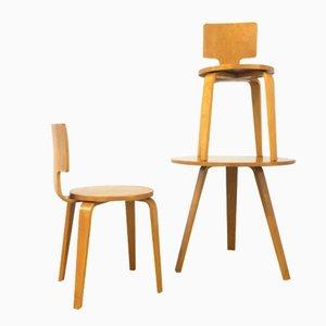 Chaises et Table No. 519 par Cor Alons pour Den Boer, Set de 3