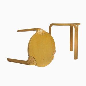 Taburete finlandés X600 de haya de Alvar Aalto para Artek, años 50