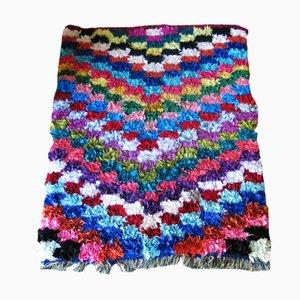 Moroccan Multi-Colored Boucherouite Rug, 1990s