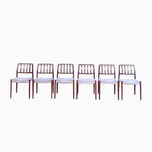 Danish Model 83 Teak Dining Chairs by Niels O. Møller for J.L. Møller, 1970s, Set of 6