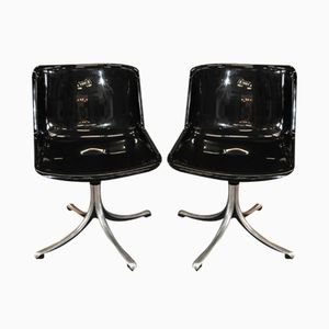 Black Modus Chairs by Osvaldo Borsani for Tecno, Set of 2