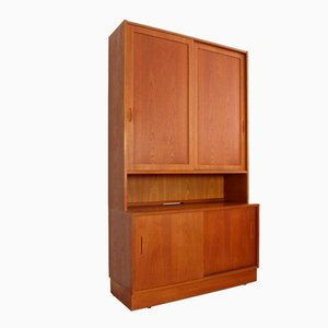 Danish Teak Cabinet by Carlo Jensen for Poul Hundevad, 1960s