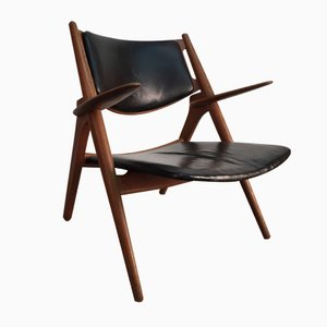 Danish CH28 Sawhorse Chair by Hans J. Wegner for Carl Hansen & Son, 1950s