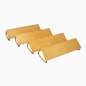 Finnish Wall Shelves by Alvar Aalto for Artek, 1950s, Set of 4