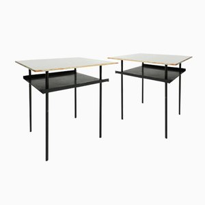 Dutch Side Tables by Wim Rietveld for Auping, 1952, Set of 2