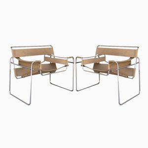 Wassily Armchairs by Marcel Breuer, 1970s, Set of 2