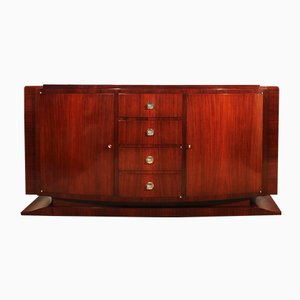 French Art Deco Mahogany & Rosewood Sideboard, 1930s