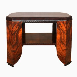 French Art Deco Rosewood & Walnut Center Table, 1920s
