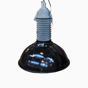 Lámpara colgante de fábrica industrial de Philips, años 50