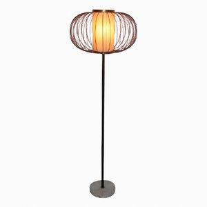 Italienische Messing & Marmor Stehlampe, 1950er