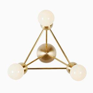 Applique Lina Triangle con 3 luci di Rosie Li