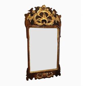 Espejo danés rococó, década de 1740