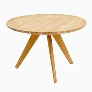Swedish Pine Tripod Coffee Table, 1960s