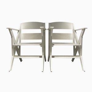 Französische Terrassenstühle, 1940er, 2er Set