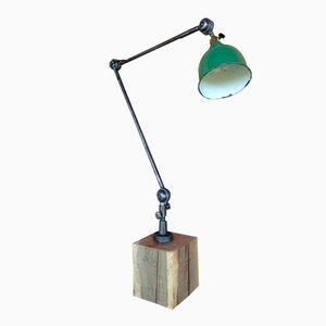 Lámpara de taller articulada vintage